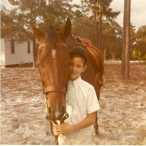 "Me and my horse, ""Early to Rise."" We went around a lot of rings together."