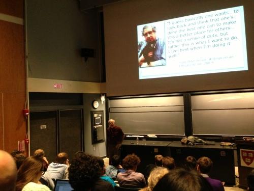 Peter Singer at Harvard